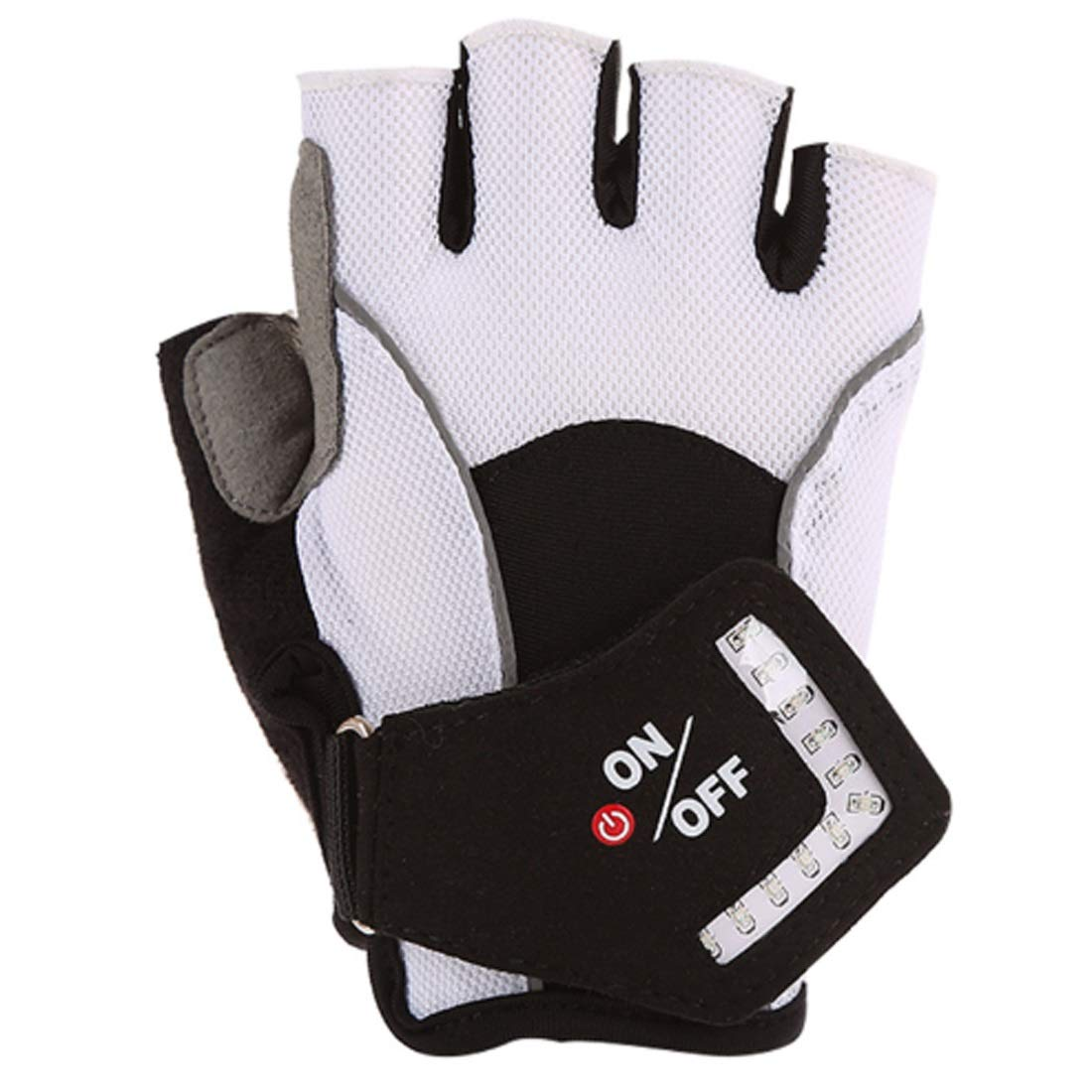 Hexiansheng Men's Cycling Gloves Lighted Gloves, Non-Slip Breathable Sports Gloves Unisex Gloves for Mountaineering, Cycling (Size : L) by Hexiansheng