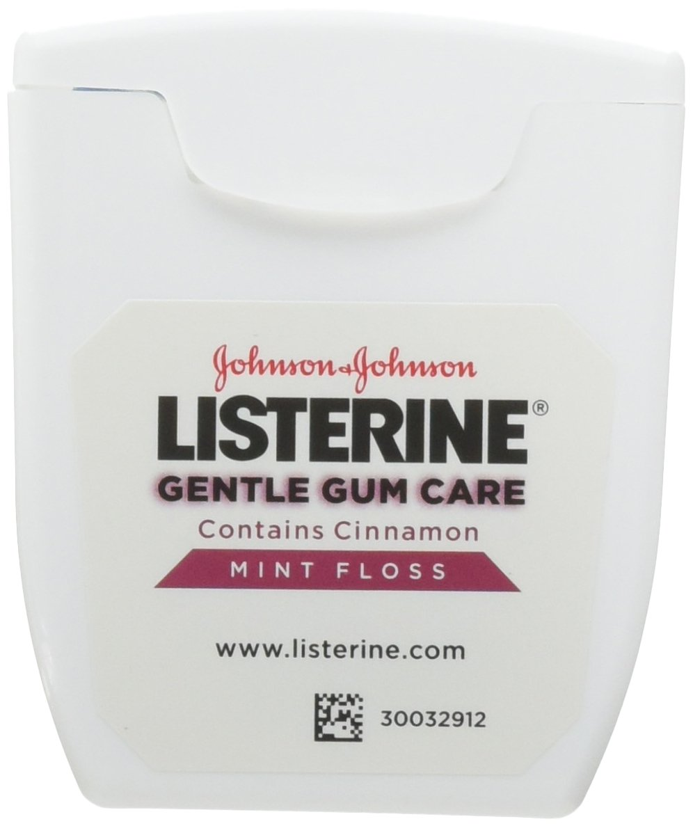 Listerine Gentle Gum Care Woven Floss 50 Yards (Pack of 6)