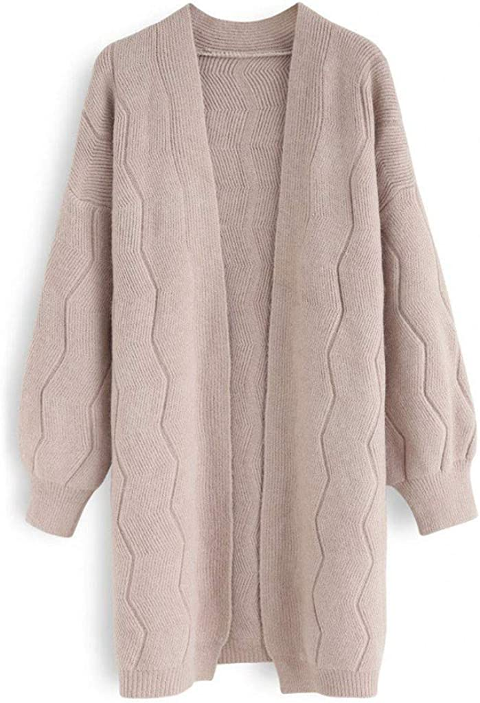 Fheaven Womens Boho Cardigans Winter Long Sleeve Open Front Chunky Warm Pullover Sweater Blouses