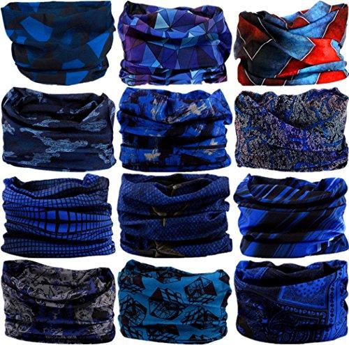 VANCROWN Headband Head Wrap Headwear Sport Sweatband 280 Patterns 12 in 1 Magic Scarf 12PCS 9PCS & 6PCS from VANCROWN