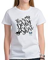 CafePress - Kentucky Derby Shirt T-Shirt - Womens Cotton T-Shirt, Crew Neck, Comfortable & Soft Classic Tee