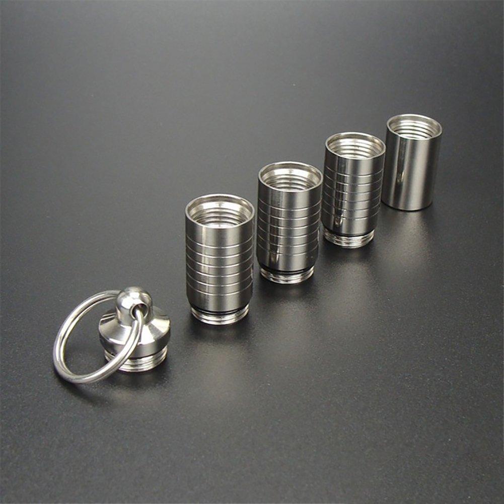 304 Stainless Steel Toothpick Holder Waterproof Pill Box Titanium Titanium Titanium Toothpick B07DZZC8G5 Multifunktionswerkzeuge Zuverlässiger Ruf 3018b5