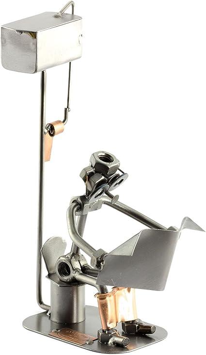Steelman24 I Hombre En El Baño con Periódico I Made in Germany I Idea para Regalo I Figura de metalo: Amazon.es: Hogar