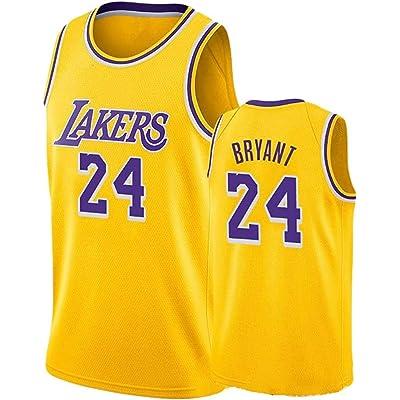 DCE Jersey de Hombre Kobe Bryant NO. 24 Los Angeles Lakers Camisetas de Verano Uniforme de Baloncesto Bordado Tops Camisetas de Traje de Baloncesto Oro Negro Jersey