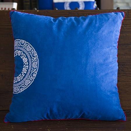 Cuscini Bianchi E Blu.Blu Stile Cinese E Cuscini Bianchi Solida Cuscino Vita Ufficio