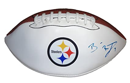f6e3f8d71cc Ben Roethlisberger Autographed Pittsburgh Steelers Logo Football W PROOF