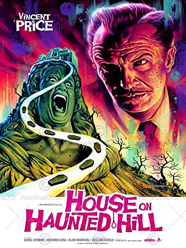 MOVIE FILM HOUSE HAUNTED HILL VINCENT PRICE HORROR COFFIN SCREAM USA PRINT - International Mail Prices Priority