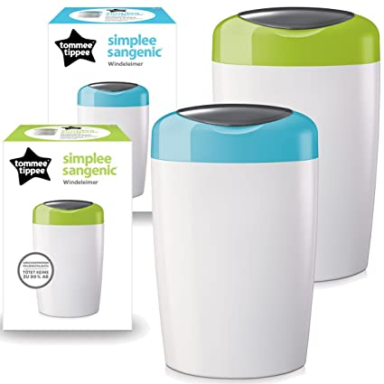 Sangenic SIMPLEE para pañales eliminación sistema cubo de basura para pañales (+ integrada sistema de