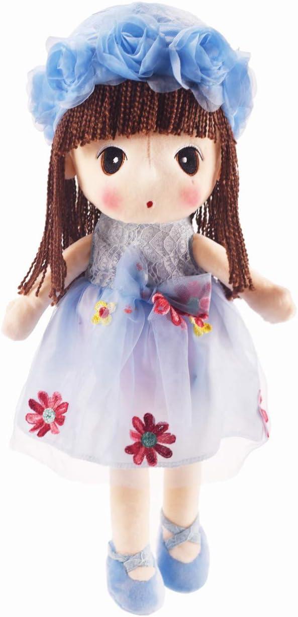 HWD Kawaii Flower Fairy Stuffed Soft Plush Toy Doll Girls Gift , 18 Inch ( Blue )