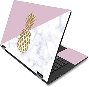"MightySkins Skin for Lenovo Flex 14"" (2019 No Fingerprint Scanner) - Pretty Pineapple 