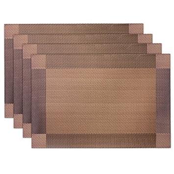 8x PVC Tischset Platzset Platzmatte Platzdeckchen Tischmatte Tischdecke Silber