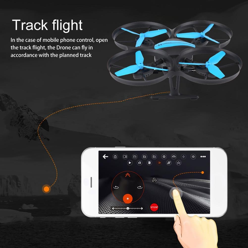 Mini Drone, Dual Dual Dual Geschwindigkeit Headless RC Drone mit 720P HD Weitwinkel Kamera 4 Achsen Wifi 12cfb0