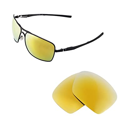 6ca418b5dc7 Walleva Replacement Lenses for Oakley Plaintiff Squared Sunglasses - 6  Options Available (24K Gold -