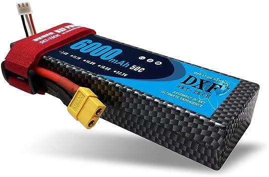 DXF 7.4V 6000mAh 2S HardCase 50C MAX 100C LiPo Batería con ...