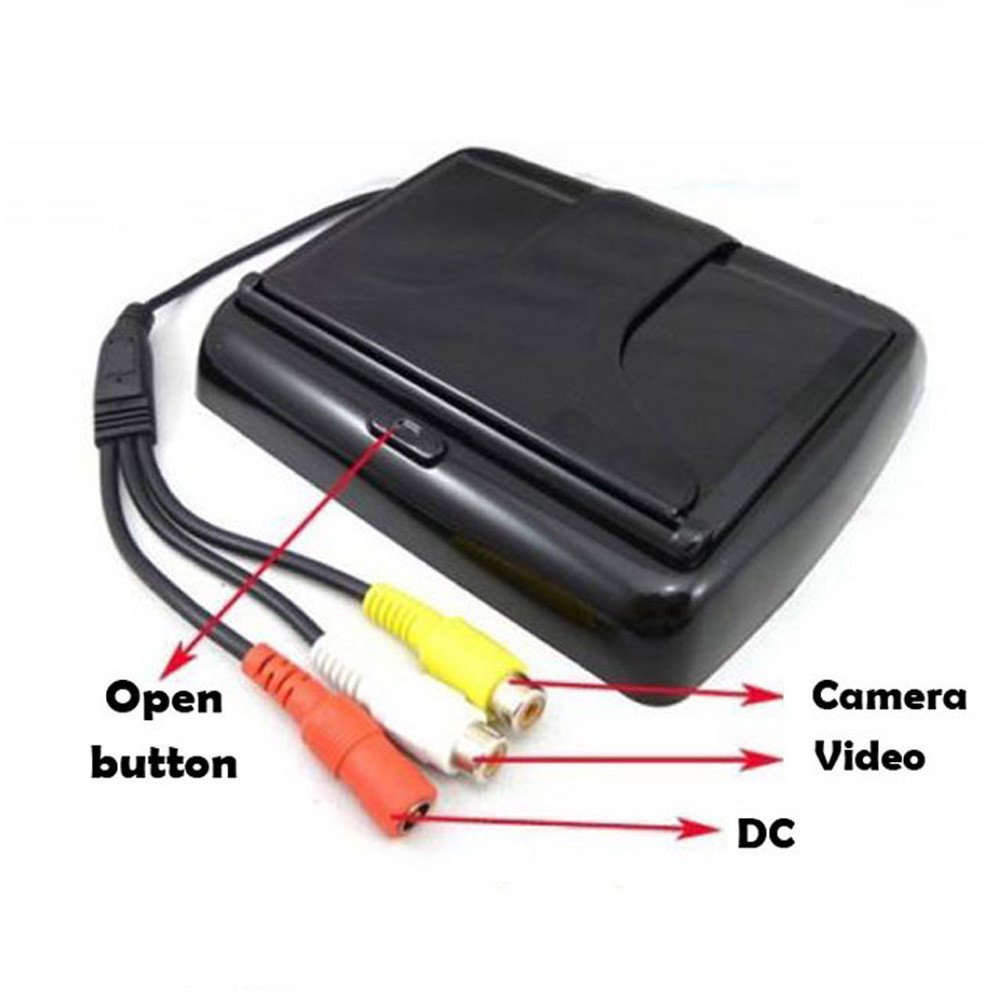 Parking System Kit, Dacawin 4.3 Car Rear View Monitor Wireless Car Backup Camera (Black) by Dacawin (Image #4)