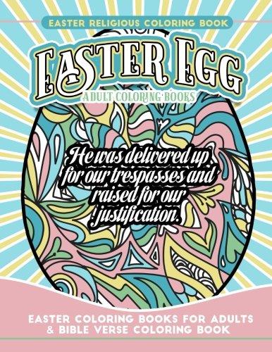 Easter Religious Coloring Book Easter Egg Adult Coloring Books: Easter Coloring Books for Adults & Bible Verse Coloring Book ()