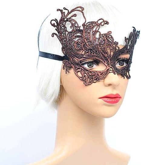 GJJSZ Máscara de Encaje Sexy Mujer Disfraz de Fiesta de Disfraces ...