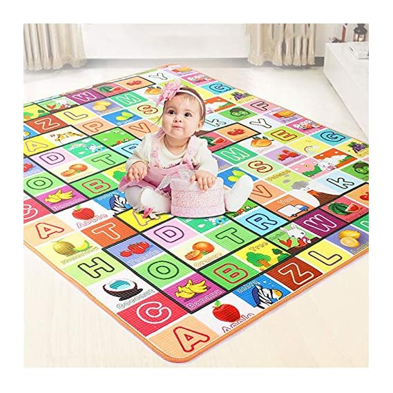 AYSIS Double Sided Water Proof Baby Mat Carpet Baby Crawl Play Mat Kids Infant Crawling Play Mat Carpet Baby Gym Water