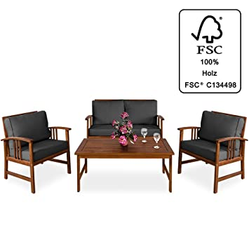 deuba wooden garden furniture set outdoor patio table and chairs