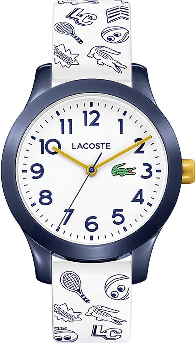 Relógio infantil Lacoste Unissexo com pulseira de silicone, modelo 2030011
