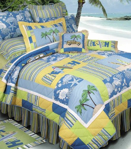 UPC 008246238027, C&F Home Surfers Bay Collection Twin Quilt, 64 by 86-Inch