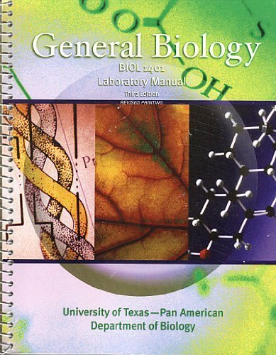 University Texas Pan Am - General Biology Laboratory Manual