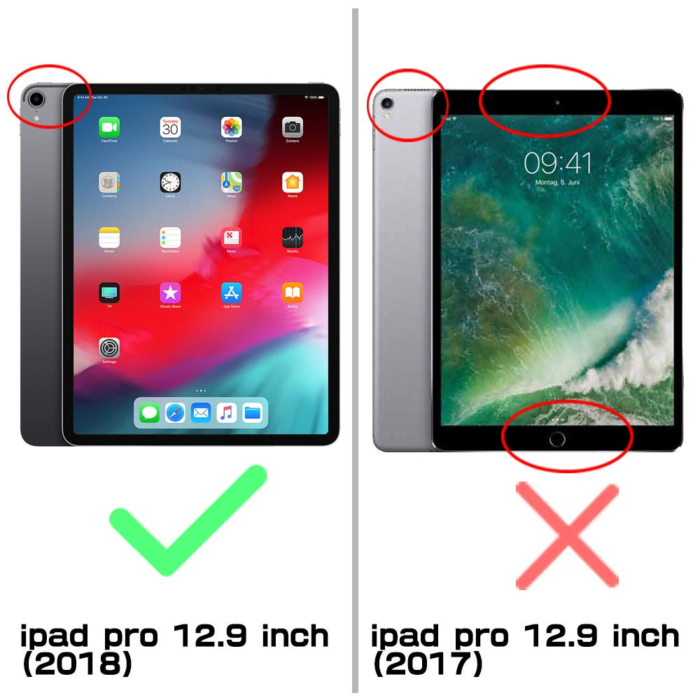 SUPCASE Support Apple Pencil Charging with Built-in Screen Protector Full-Body Rugged Kickstand Protective Case for iPad Pro 12.9 2018 Release- UB Pro Series (Black) by SUPCASE (Image #2)