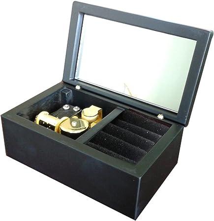 Laxury - Caja musical de madera con 18 notas, diseño de Elfen, color dorado: Amazon.es: Hogar