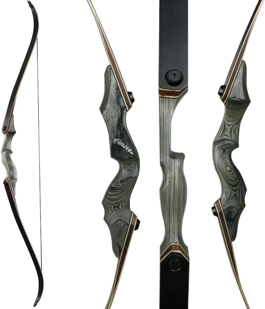 TOPARCHERY Archery Takedown Recurve Bow 60inch Right Handed Riser Bow for Hunting Target Shooting 30-50Lbs Hunting Target Practice Adults with Bow Stringer