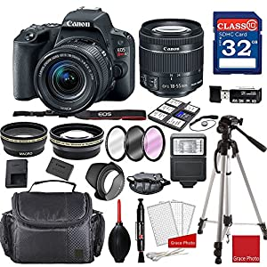 Canon EOS Rebel SL2 DSLR Camera w/ EF-S 18-55mm f/4-5.6 IS STM Lens + Professional Accessory Bundle