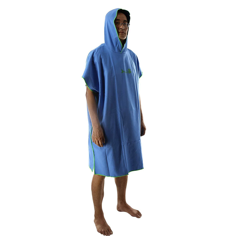 Polyester Bleu Sauna Surf 31.5x43inch JEANNELIFE Jeannlife Peignoir /à Langer /à Capuche sans Manches pour Adulte 80 x 10 cm pour Natation