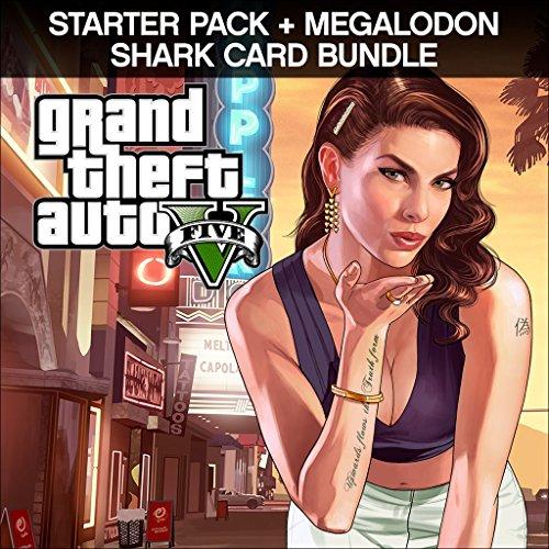 GTAV Starter Pck & Megal & Game Bundle - Out Game - PS4 [Digital Code] by Rockstar Games