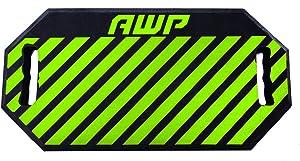 "AWP Kneeling Pad, Shock Absorbing 1.5"" Foam Kneeling Work Pad, High Visibility Green"
