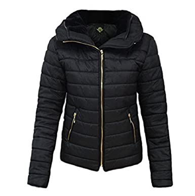 c28cb9c7df1 GLAM COUTURE NEW LADIES WOMENS QUILTED PADDED PUFFER BUBBLE FUR COLLAR WARM  THICK JACKET COAT: Amazon.co.uk: Clothing