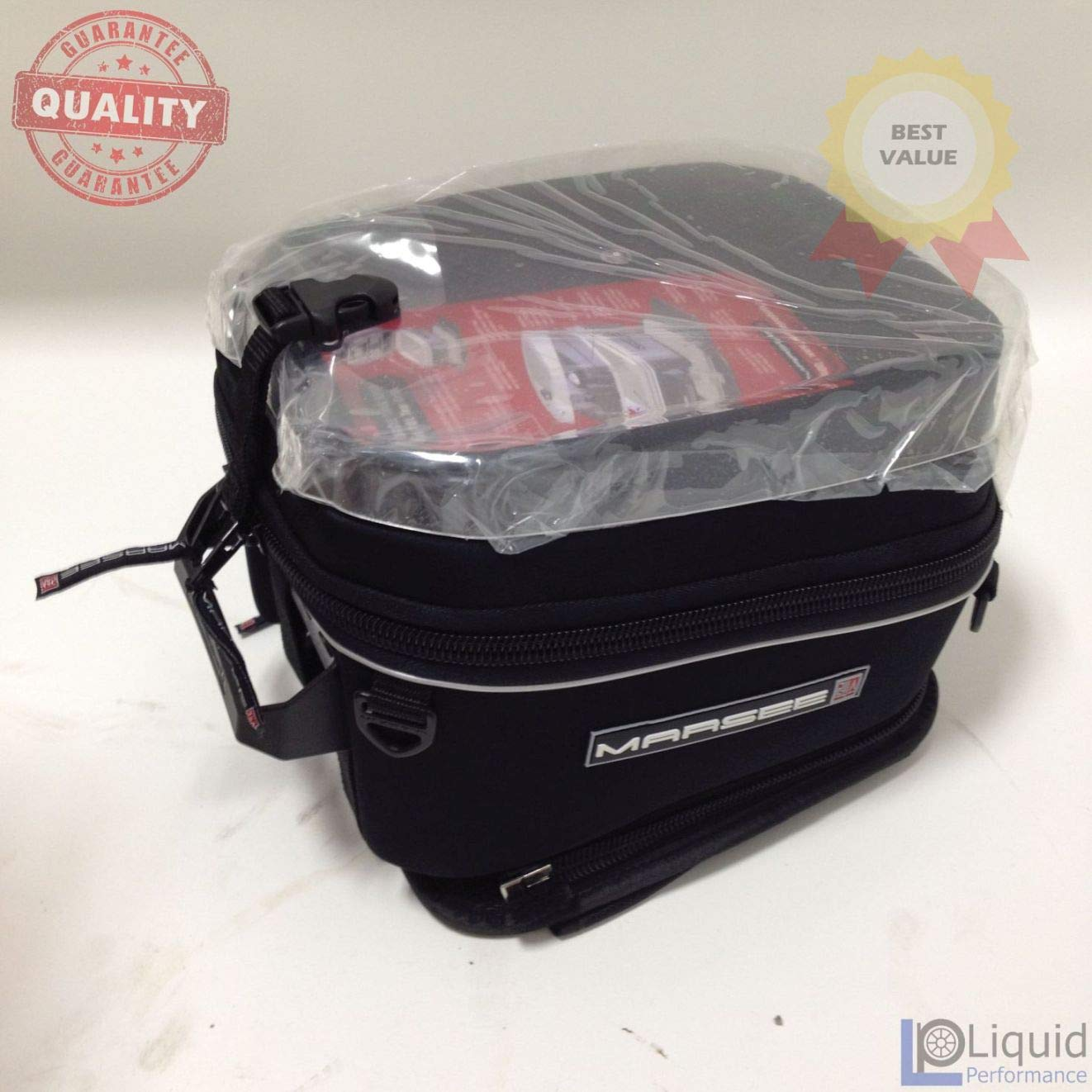 Marsee 10 L Teardrop w/Magnetic Mount, Tank bag, Universal Fit Motorcycle luggage (MAR-10DM)
