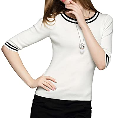 Dissa D1619130 femme Pull Manches courtes Tricot