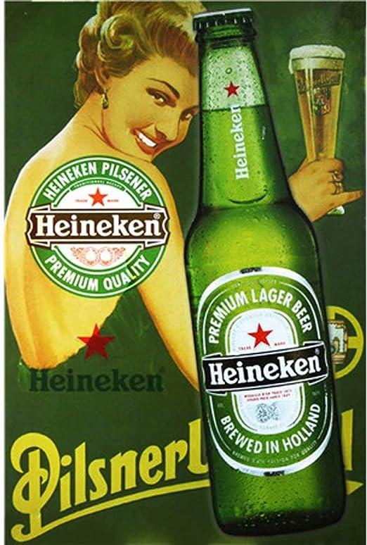 Poster in 3 Sizes Vintage Heineken Beer Advertisement