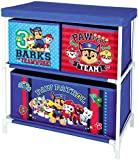 Paw-Patrol Blue Childrens 3 Tray Toy Storage Unit Chest Organiser For Kids Bedrooms & Playrooms