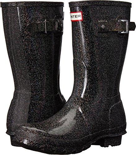 Hunter Women's Original Starcloud Short Rain Boots Black Multi 8 M US by Hunter