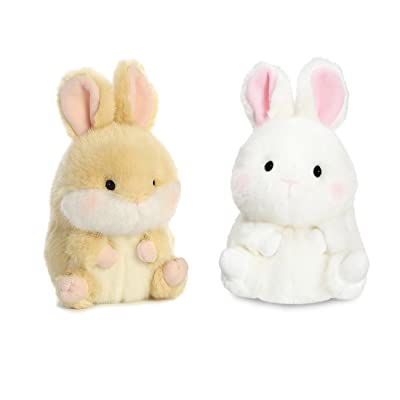 "Aurora Bundle 2 5"" Beanbag Stuffed Animals: Lively Bunny Bunbun Bunny: Toys & Games"