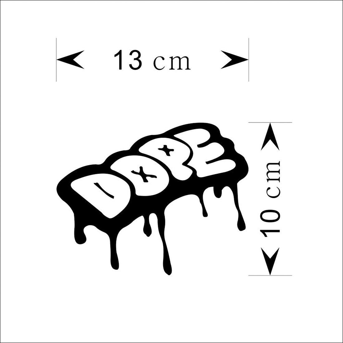 Oks removable car decor dope lettering graffiti wall stickers vinyl art mural amazon co uk kitchen home