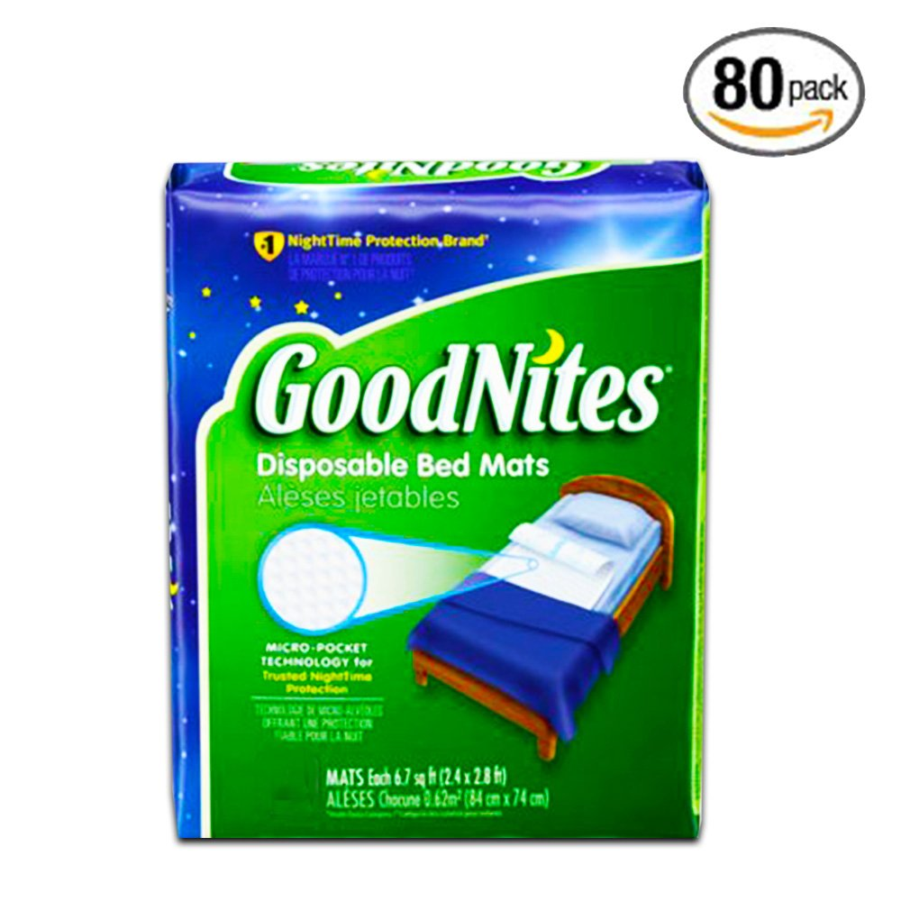 GoodNites Disposable Bed Mats, 80 Count (Value Pack) by GoodNites (Image #1)