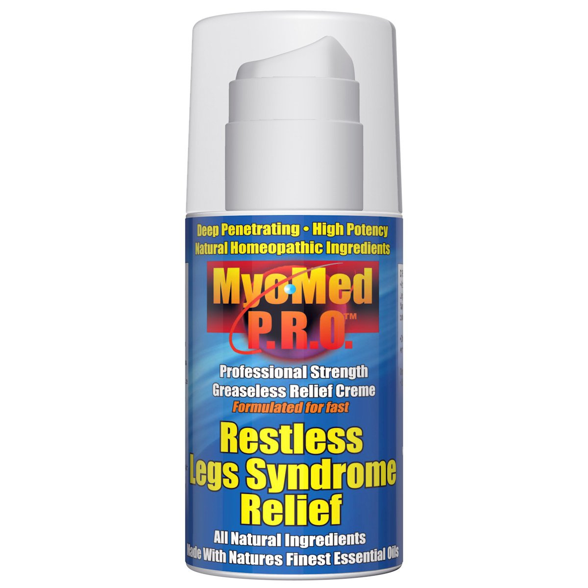 Best Restless Leg Syndrome Relief Cream by Myomed P.R.O. 3.5 oz. Professional Strength RLS Treatment & leg cramp relief will stop your symptoms fast. Finally, a restful legs remedy that works. by MyoMed P.R.O.