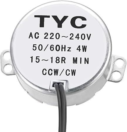 sourcing map El/éctrico Sincr/ónico Motor AC 220-240V CCW//CW 1.4-1.7 rpm