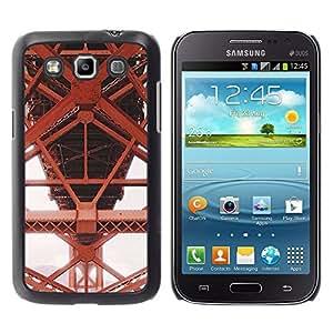 iKiki Tech / Estuche rígido - Iron Red Structure Construction - Samsung Galaxy Win I8550 I8552 Grand Quattro