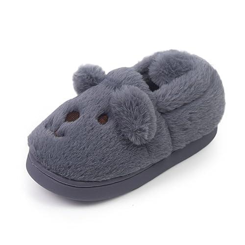 616304ea4db Toddler Girls Boys Slipper Shoes For Kids Warm Winter Bedroom Indoor House  Slipper (12 M