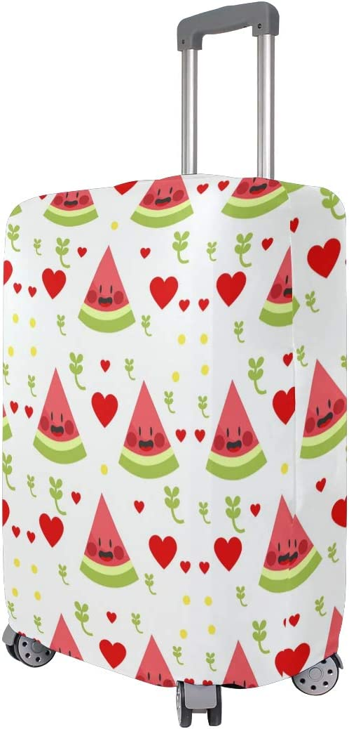 FOLPPLY Cute Watermelon Heart Pattern Luggage Cover Baggage Suitcase Travel Protector Fit for 18-32 Inch