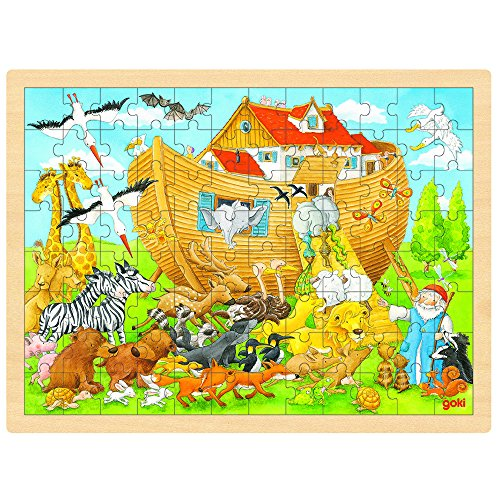 Ark Jigsaw Book Noahs - Goki Wooden Entry Into Noah's Ark Puzzle (96 Piece)