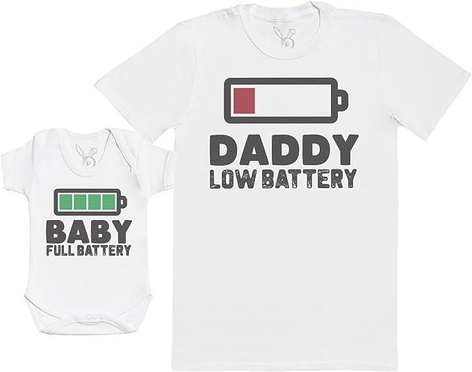 Ensemble P/ère B/éb/é Cadeau Baby Full Battery Gris S /& 0-3 Mois