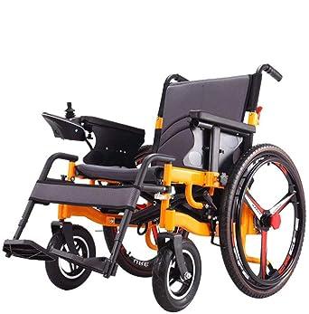 Amazon.com: Silla de ruedas eléctrica plegable portátil, la ...